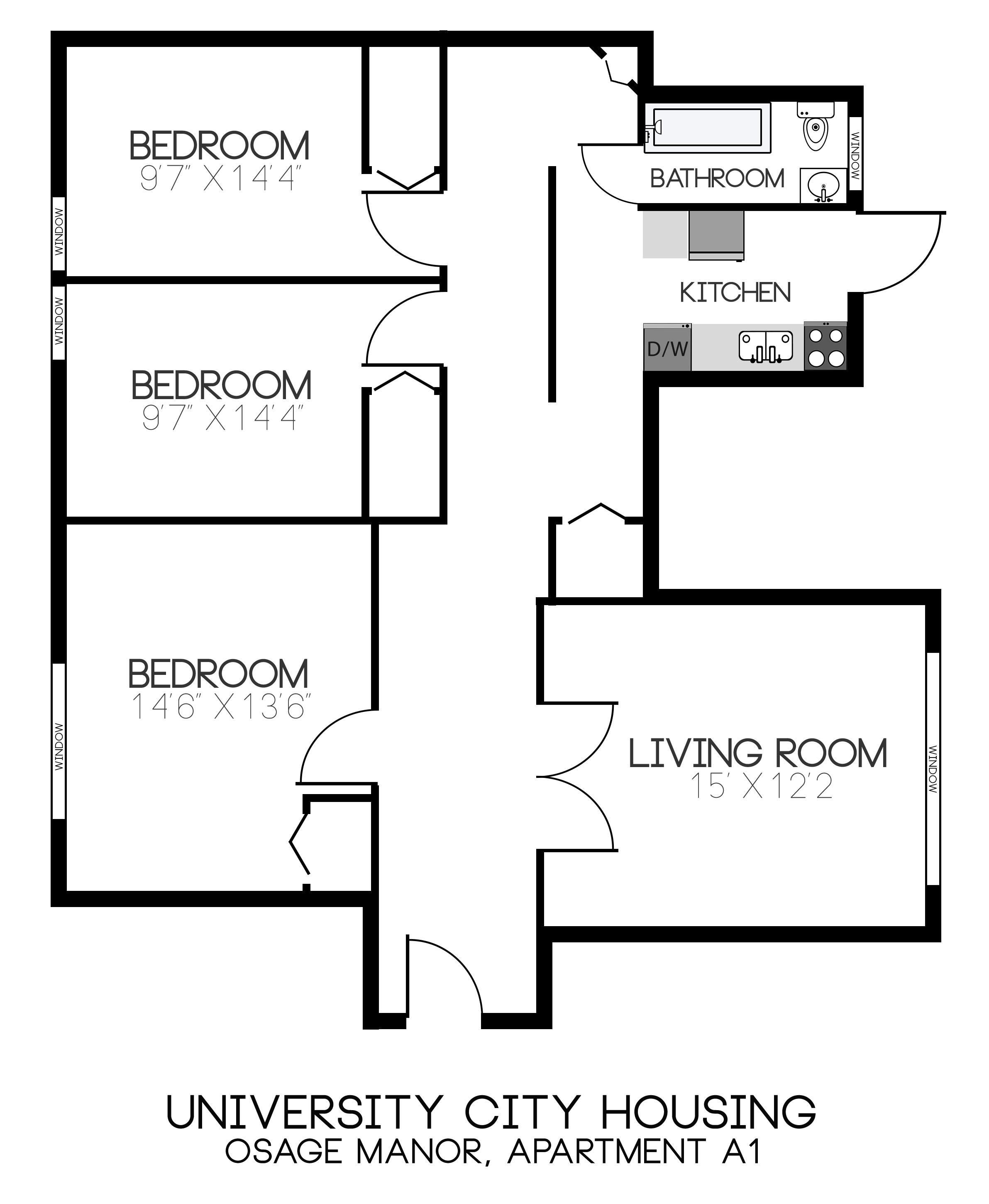 osage manor university city housing